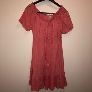 Boho Peachy Pink Dress